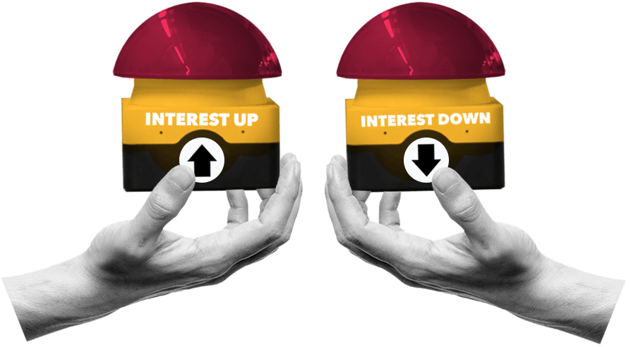 Interest rates buttons