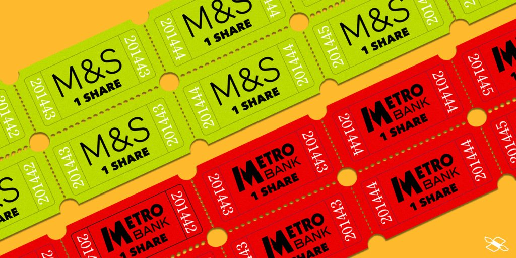 M&S and Metro Bank announced rights issues