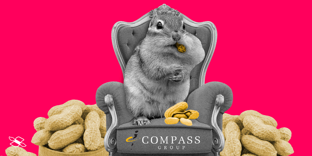 Compass Group announces strong earnings, but its shares fall