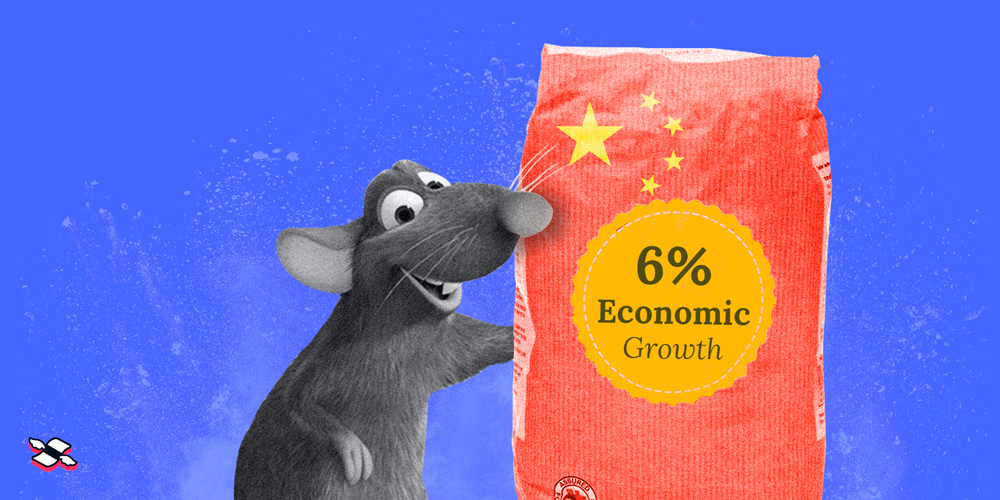 Ratatouille holding a bag of 6% economic growth for 2020